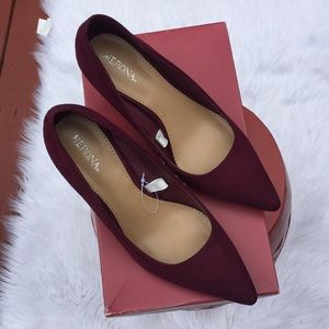 Merona burgundy/maroon pumps